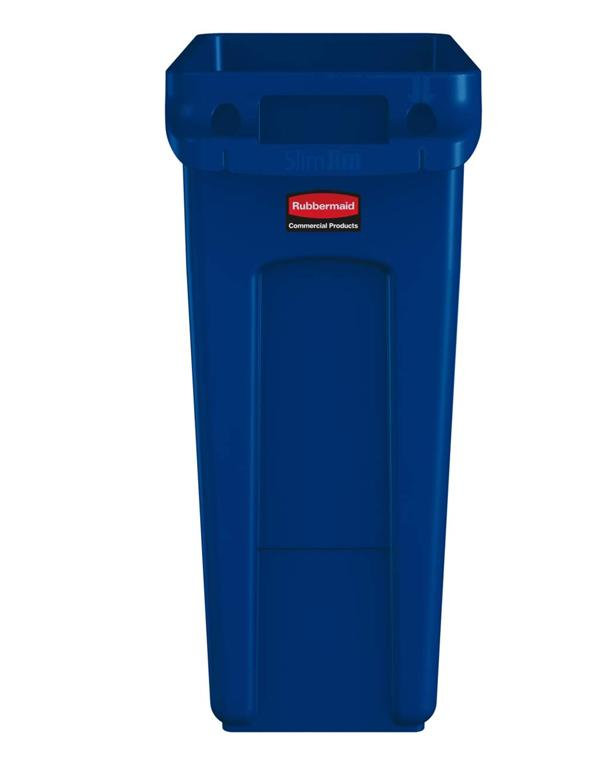 60ltr Slim Jim With Venting Channels Blue
