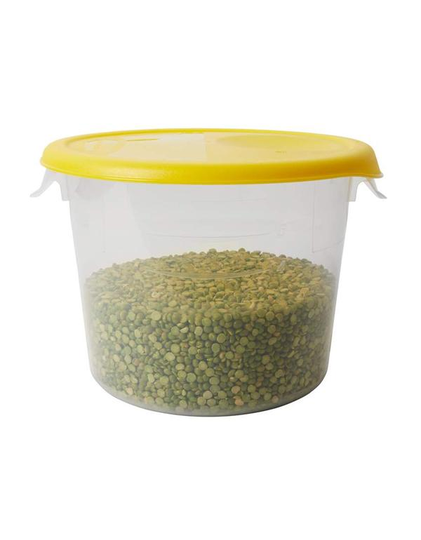 Round storage container 57 l clear